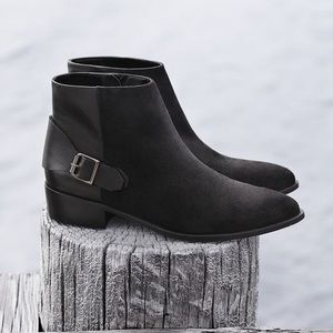 MNG black Suede Ankle Boots